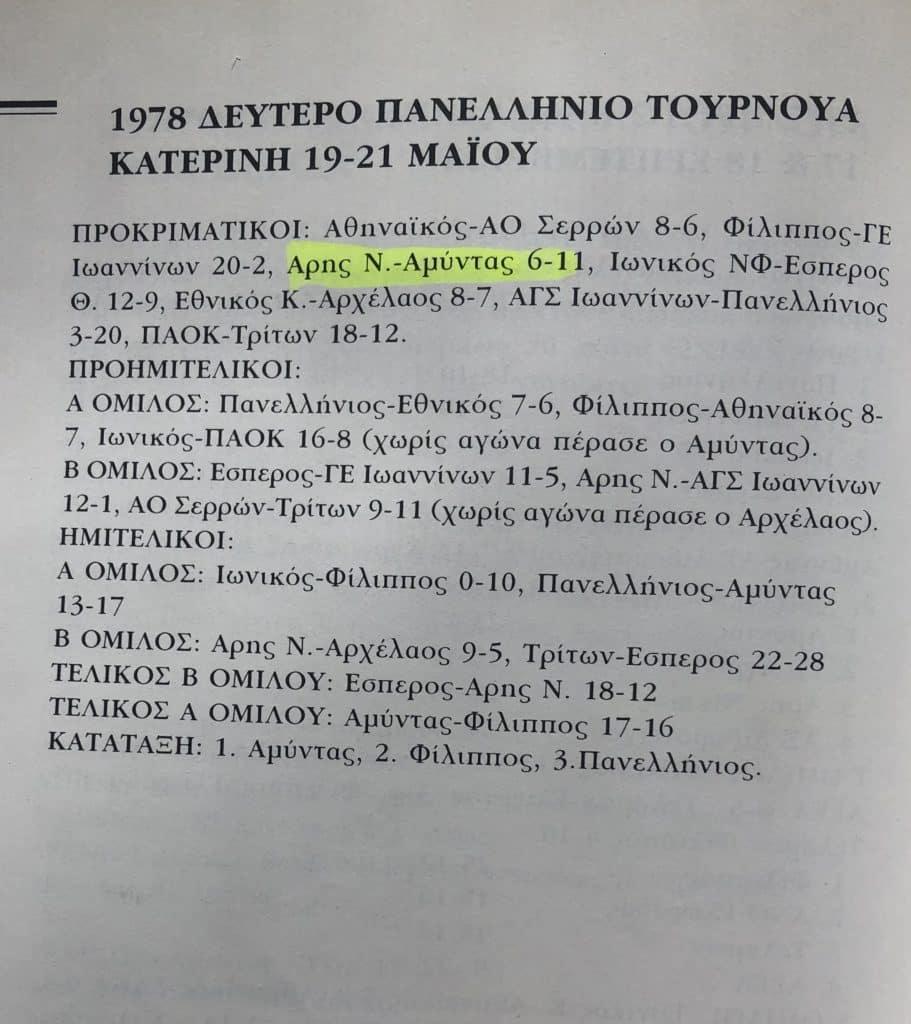 1978_ΔΕΥΤΕΡΟ ΠΑΝΕΛΛΗΝΙΟ ΤΟΥΡΝΟΥΑ
